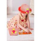Набор сумочка и шляпка с цветочком, цвет красный, р-р 50-52 см, 3-5 лет