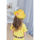 "Шляпа детская ""Виолетта"" с цветком, на резинке, р-р 44-46, цвета МИКС"