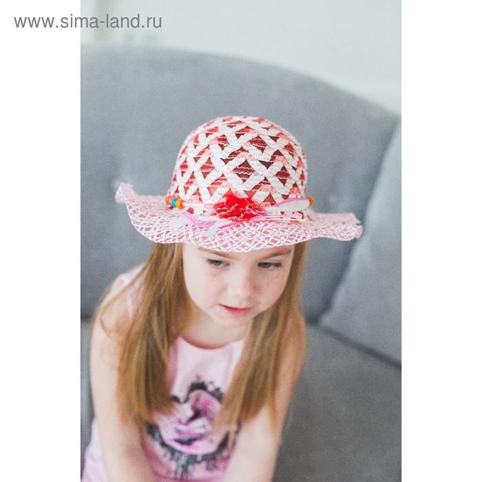 """Шляпа детская """"Узор"""", цвета МИКС, р-р 50-52 см"""