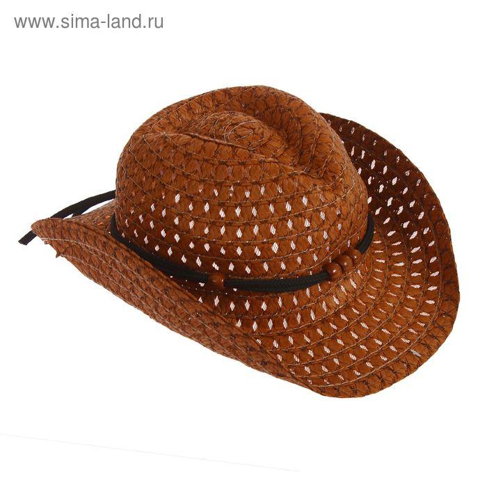 """Шляпа детская """"Ковбой"""", цвет коричневый, р-р 50-52 см, 3-5 лет"""