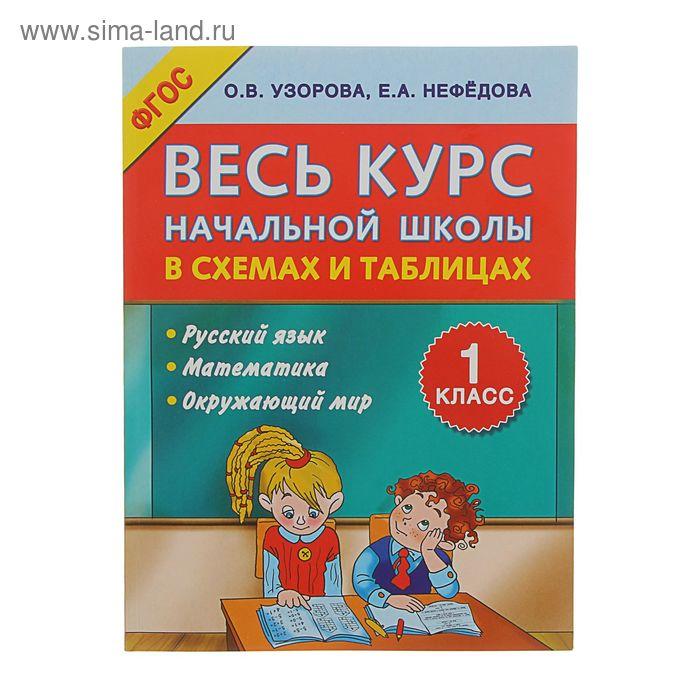 Весь курс начальной школы в схемах и таблицах 1 класс. Автор: Узорова О.В.