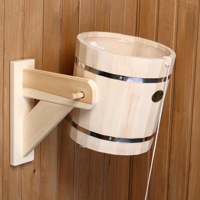 Обливное устройство с пластиковой вставкой 13 л, липа, обод нержавеющая сталь