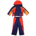 Комплект (куртка, брюки) для мальчика, рост 98 см, цвет тёмно-синий/оранжевый/терракот (арт. Ш-068 )