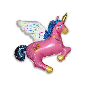 """Шар фольгированный 44"""" «Единорог волшебный», цвет розовый"""