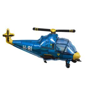 """Шар фольгированный 38"""" «Вертолёт», цвет синий"""