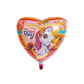 """Шар фольгированный 18"""" «Пони», сердце"""