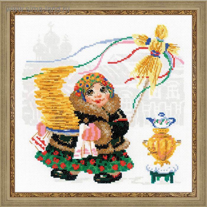 """Набор для вышивания крестиком """"Масленица, блины"""""""