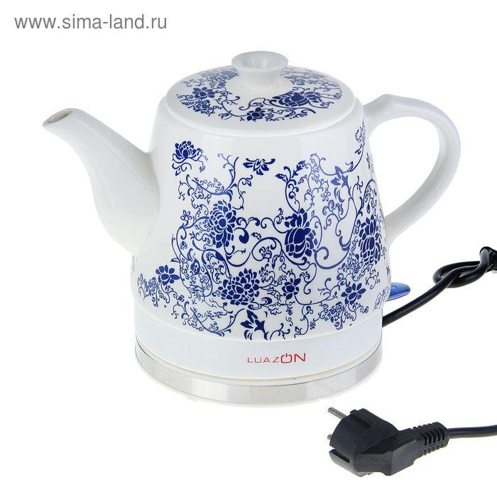 Чайник электрический LuazON LCK-1201, 1.2 л, 1500 Вт, керамика