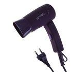 Фен для волос LuazON LF-14, 900 Вт, 2 скорости, складная ручка, матовый, фиолетовый