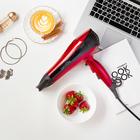 Фен для волос LuazON LF-21, 1400 Вт, 2 скорости, 3 темп. режим, ионизатор, чёрно-красный
