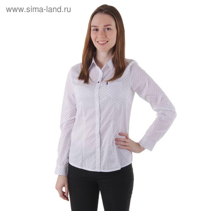 Блузка женская с длинным рукавом, размер 50, рост 170 см, цвет белый (арт. 1578 С+)