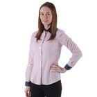 Рубашка женская, цвет розовый/горох, размер 50