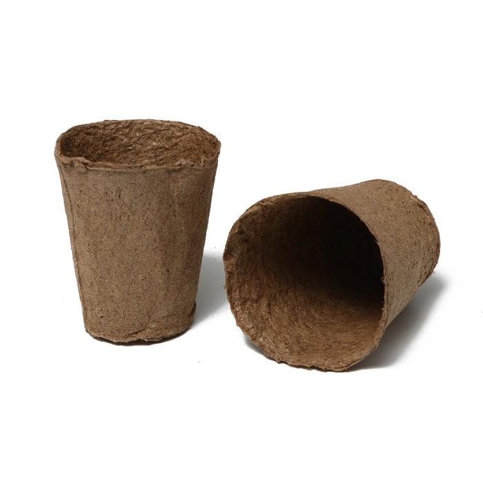Торфяной горшок, 100 мл, 6 × 6 см, набор 20 шт., «Умный город»