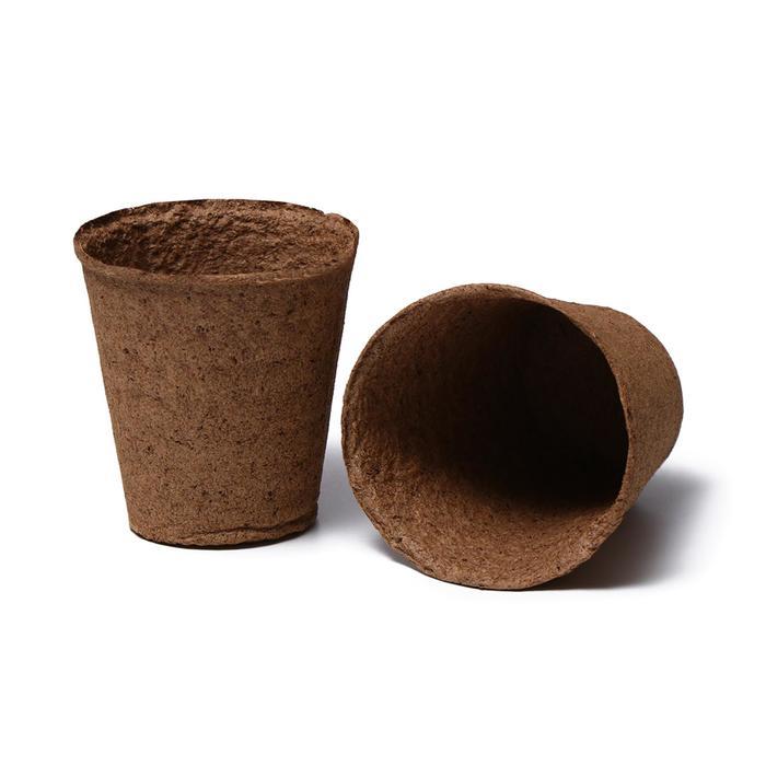 Торфяной горшок, 400 мл, 9 × 9 см, набор 9 шт.