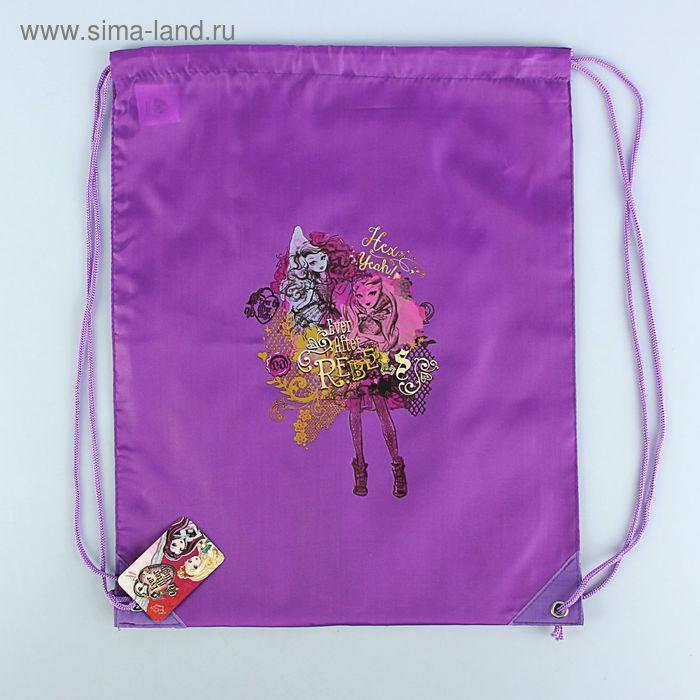 Мешок для обуви Ever After High Фиолетовый, полиэстер 210den, водоотталкивающее покрытие