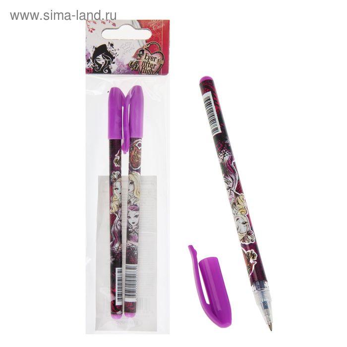 Набор ручек гелевых Ever After High Фиолетовая, синие чернила, узел 0,5мм, печать на корпусе