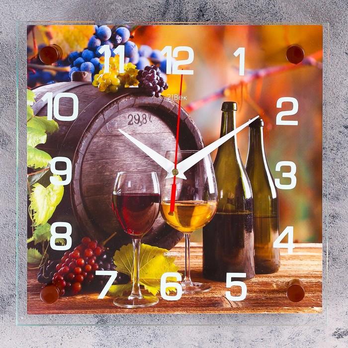 "Часы настенные, серия: Кухня, ""Виноград"", 25х25  см, микс"