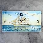 """Часы-картина настенные, серия: Море, """"Парусник"""", 52х26  см, микс"""