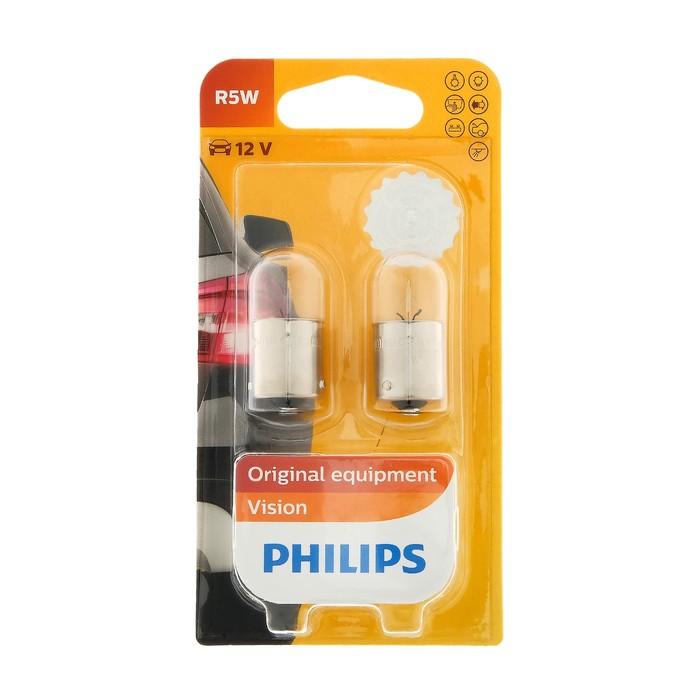 Лампа автомобильная Philips Vision R5W. 12 В, 5 Вт  набор 2 шт, 12821В2