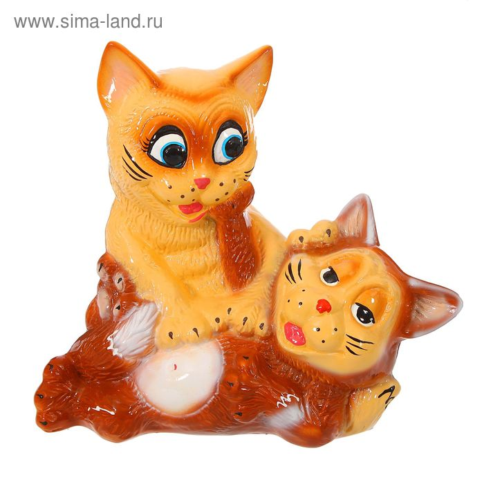"""Копилка """"Пара котят"""" глянец, микс"""