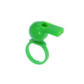 Мини-свисток «Футбол», на кольце, цвета МИКС