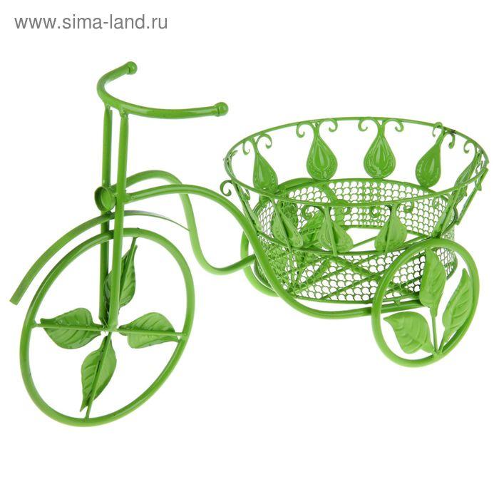 """Кашпо """"Велосипед"""" зелёное"""