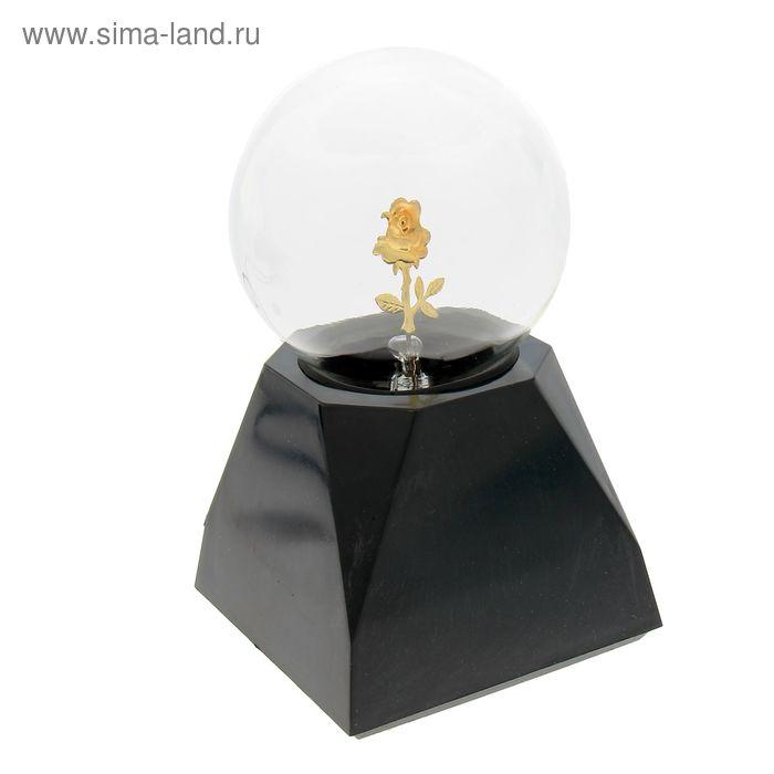 """Плазменный шар """"Гроза"""" на прямоугольной подставке МИКС 16х11х16 см"""