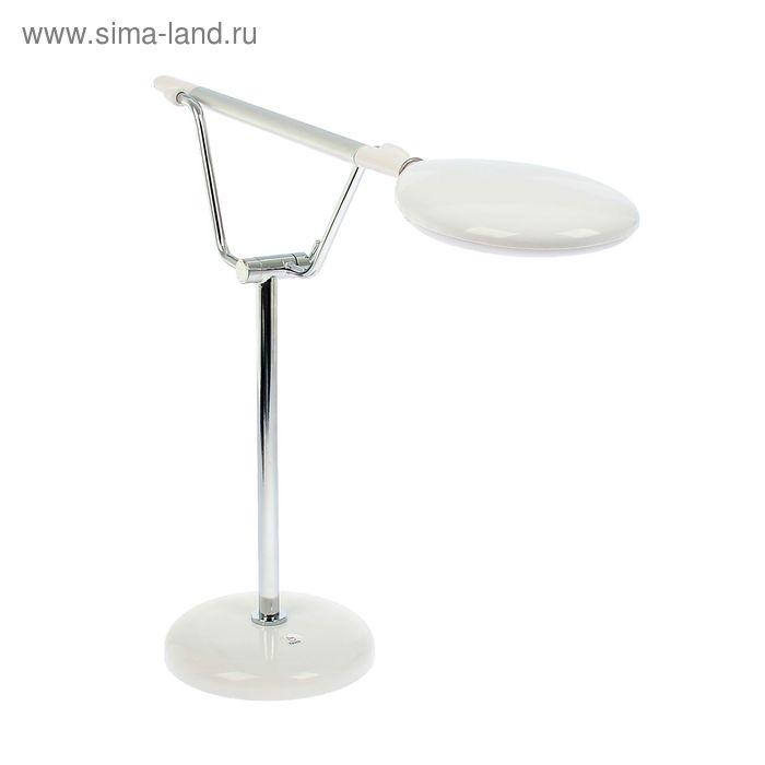 "Лампа наст.сенсор LED-лампа (60 диодов) ""Карин"" белая,фиксатор положения,переходник в компл."