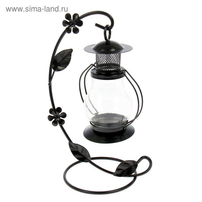 """Подсвечник 1 свеча """"Лампада"""", чёрный 14х10х22 см"""