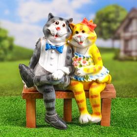 """Садовая фигура """"Коты на лавке"""""""
