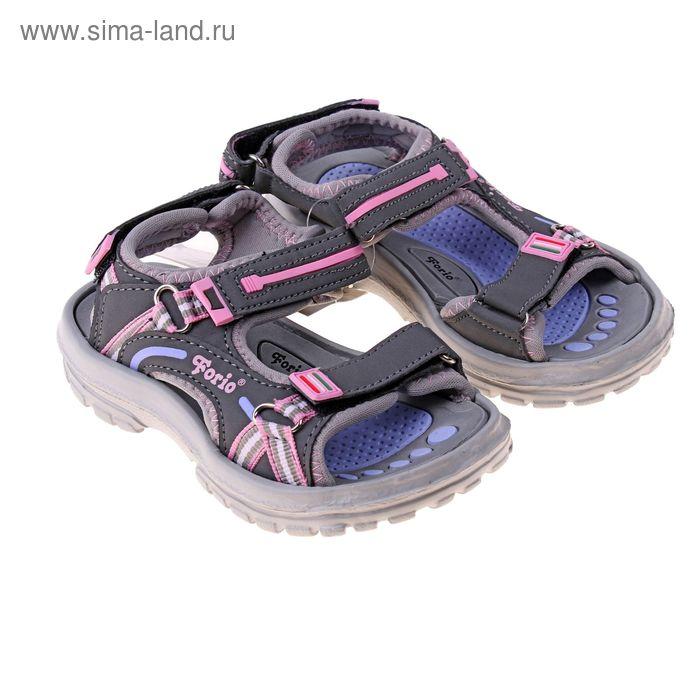 Туфли пляжные детские Forio арт. 256-5602 (серый) (р. 28)