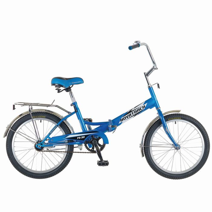 """Велосипед 20"""" Novatrack FS30, 2015, цвет синий"""