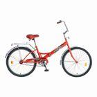 """Велосипед 24"""" Novatrack FS, 2016, цвет красный"""
