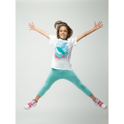 Бриджи для девочки, рост 158 см (80), цвет св.бирюза_160085
