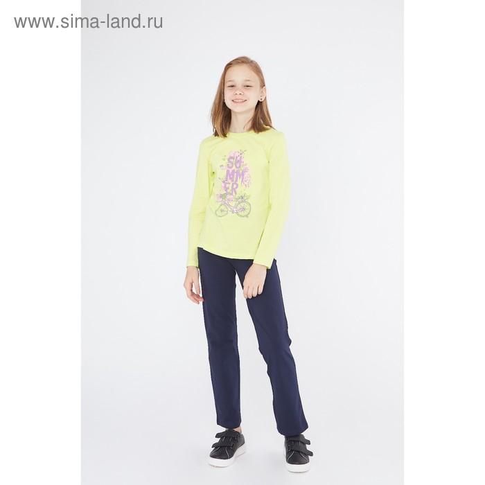 Джемпер для девочки, рост 140 см (72), цвет лайм_160089