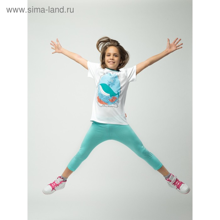Бриджи для девочки, рост 146 см (72), цвет св.бирюза_160085
