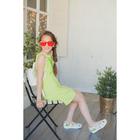 Платье для девочки, рост 158 см (80), цвет лайм_160087