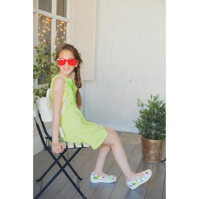 Платье для девочки, рост 152 см (76), цвет лайм_160087