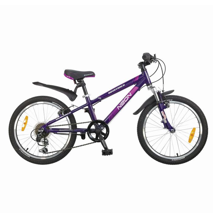 """Велосипед 20"""" Novatrack NEON, 2017, 6 ск., цвет фиолетовый"""