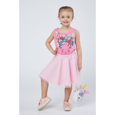 Майка для девочки, рост 122 см (64), цвет розовый_160082