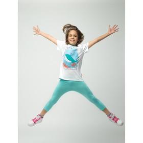 Бриджи для девочки, рост 122 см (64), цвет св.бирюза_160085