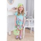 Платье для девочки, рост 104 см (56), цвет св.бирюза_160075