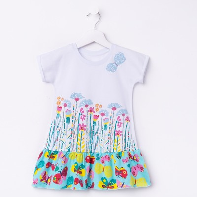 Платье для девочки, рост 110 см (60), цвет белый_160075
