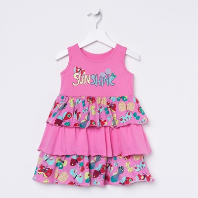 Платье для девочки, рост 122 см (64), цвет розовый_160078