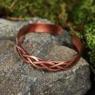 "Bracelet ""Brook"" plate, narrow, copper"