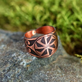 Перстень «Коловрат», пластинчатый, медь
