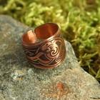 Перстень «Лев», пластинчатый, медь