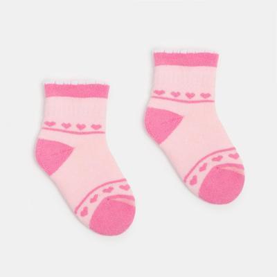 Носки детские махровые, цвет светло-розовый, размер 11-12