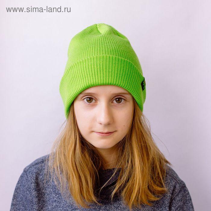 """Шапка для девушек """"ЕВА"""" демисезонная, размер 54-56, цвет светло-зеленый 160868"""