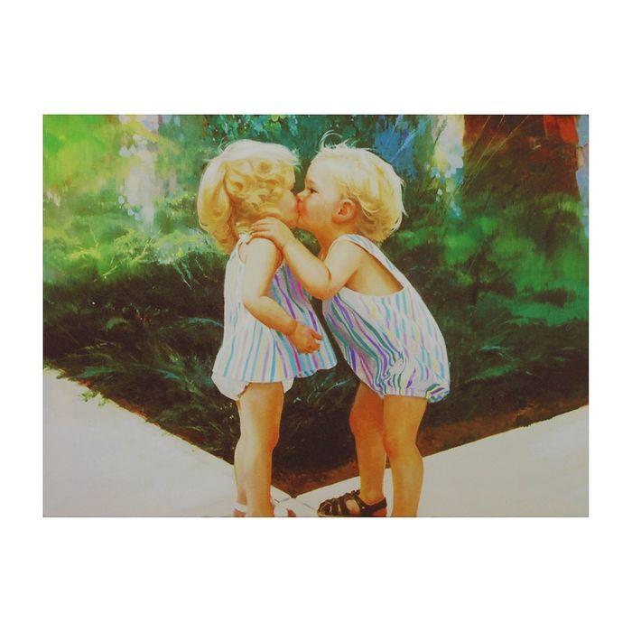 """Картина на подрамнике """"Первый поцелуй"""""""